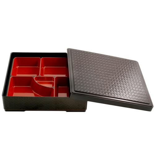 "Basket Patterned Bento Box 10"" x 10"""