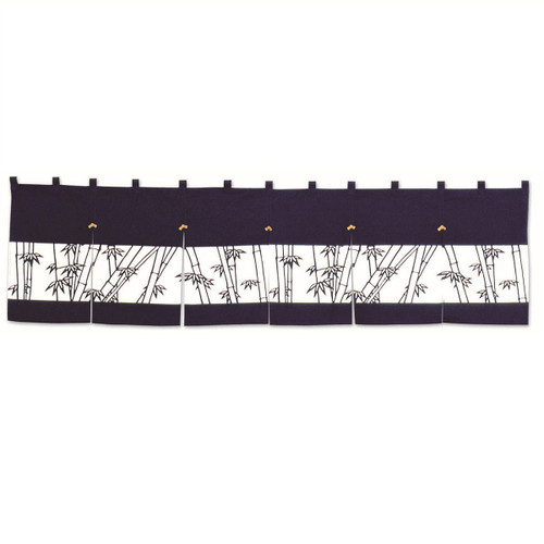 Short Noren Curtain with Bamboo Design