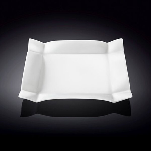 "Wilmax Deep Rimmed White Square Dessert Plate 7.68"" x 7.68"""