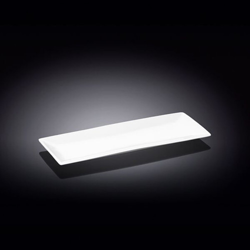 "Wilmax White Rectangular Plate 11.89"" x 4.65"""