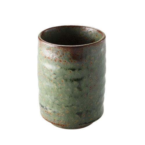 "Oribe Glazed Sushi Tea Cup 13.7 fl oz / 3.11"" dia"