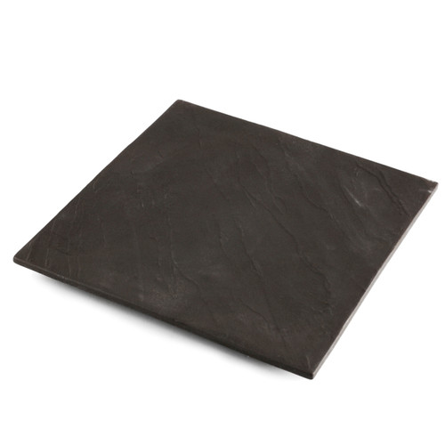 """Charcoal Gray Square Dinner Plate 8.46"""" x 8.46"""""""