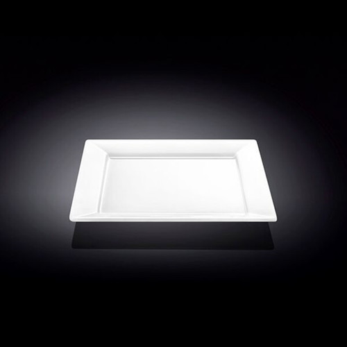 "[Clearance] Wilmax White Rimmed Square Dessert Plate 7.28"" x 7.28"""
