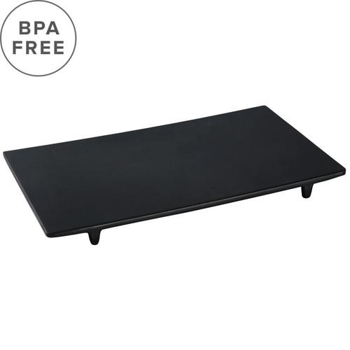 """Melamine Black Matte Rectangular Plate 12.91"""" x 7.44"""""""