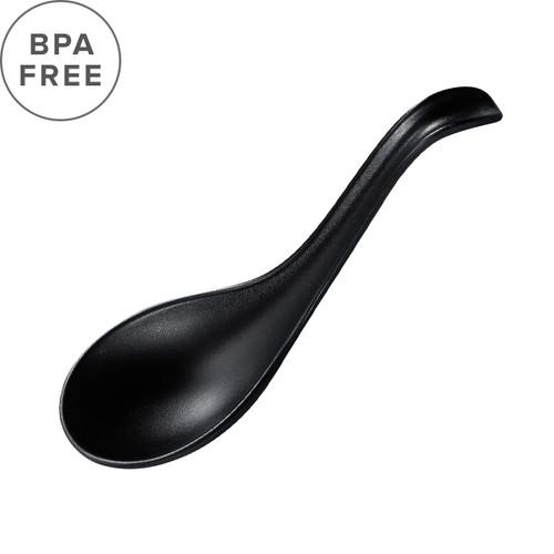 "20% off with code LIGHT20 - Melamine Black Matte Renge Ramen Spoon 6.25"" Length"