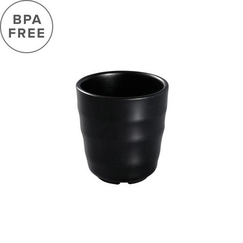 "Melamine Black Matte Tea Cup 7 fl oz / 3.03"" dia"