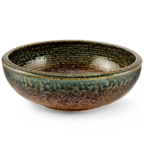 "Ainagashi Blue Earthy Serving Bowl 70 fl oz / 9.37"" dia"