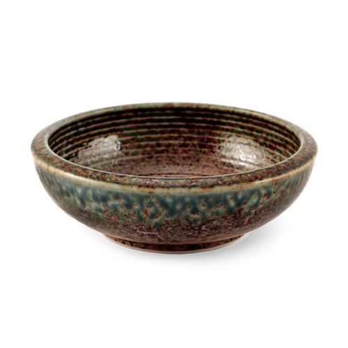 "Ainagashi Blue Earthy Serving Bowl 23 fl oz /6.73"" dia"