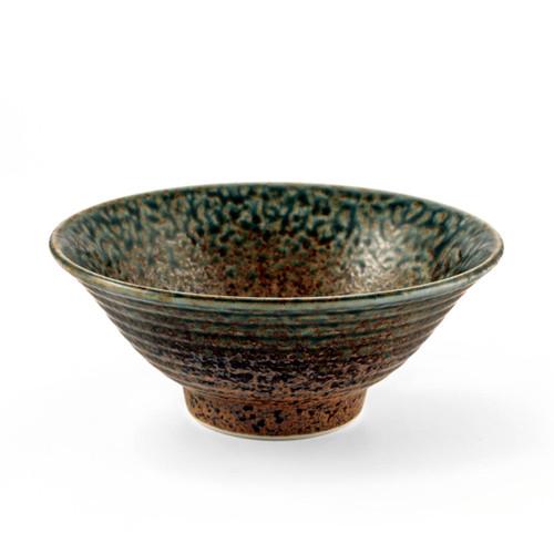 "Ainagashi Blue Earthy Noodle Bowl 31 fl oz / 7.68"" dia"