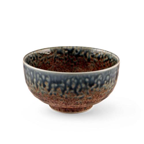 "Ainagashi Blue Earthy Rice Bowl 21 fl oz / 5.5"" dia"