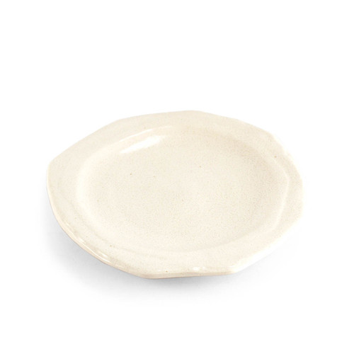 "White Hexagonal Plate 6.42"" dia"