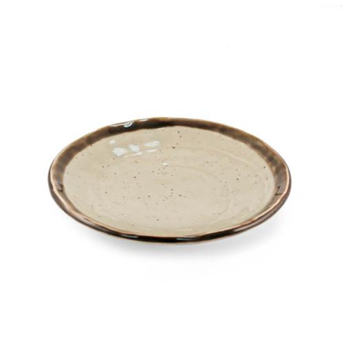 "Rimmed Handmade Look Plate 6.54"" dia"