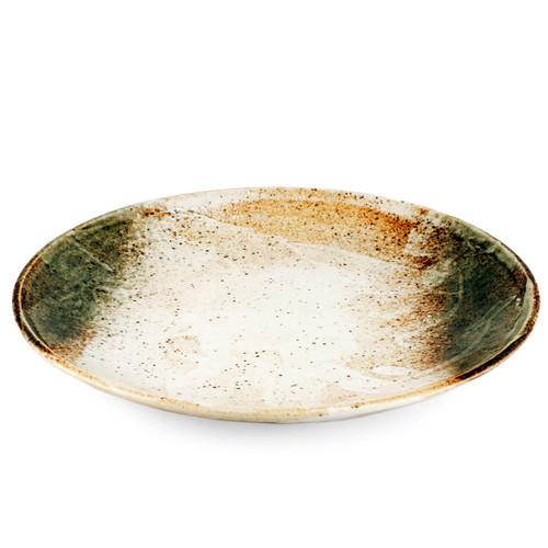 "[Clearance] Yukishino Moss White Serving Plate 12.3"" dia"