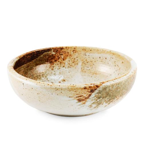 "Yukishino Moss White Thick Serving Bowl 67 fl oz / 9.29"" dia"