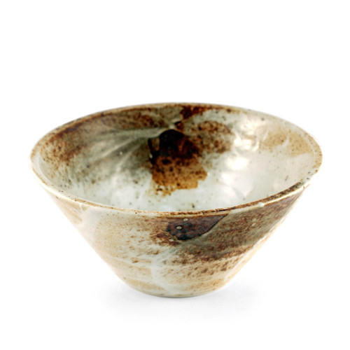 "Yukishino Moss White Noodle Bowl 40 fl oz / 7.8"" dia"