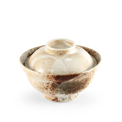 """Yukishino Moss White Donburi Bowl 13 fl oz / 6.26"""" dia"""