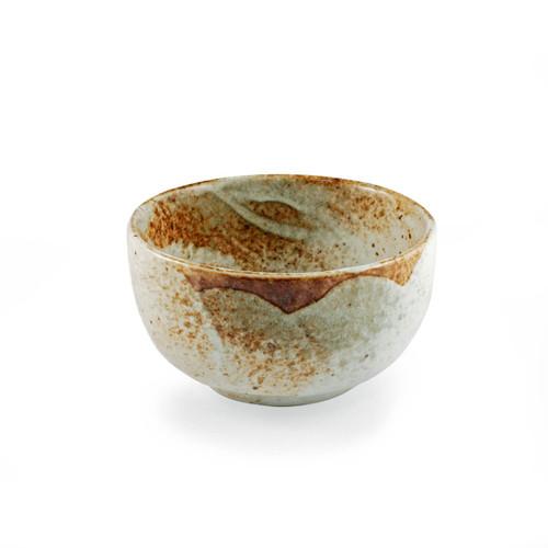"Yukishino Moss White Bowl 18 fl oz / 5"" dia"