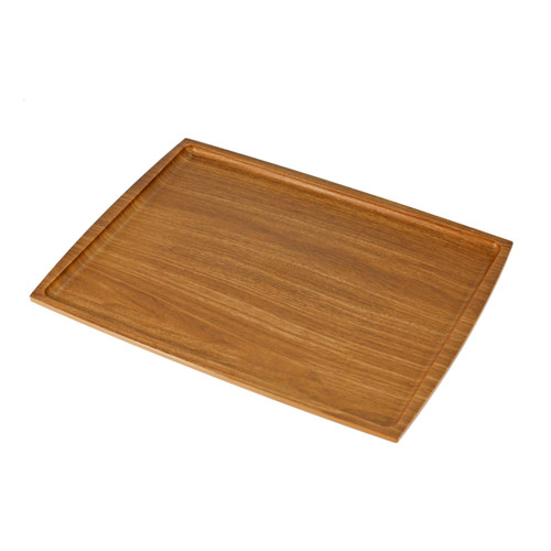 """Non-slip Rectangular Tray with Wooden Pattern 15.35"""" x 11.81"""""""