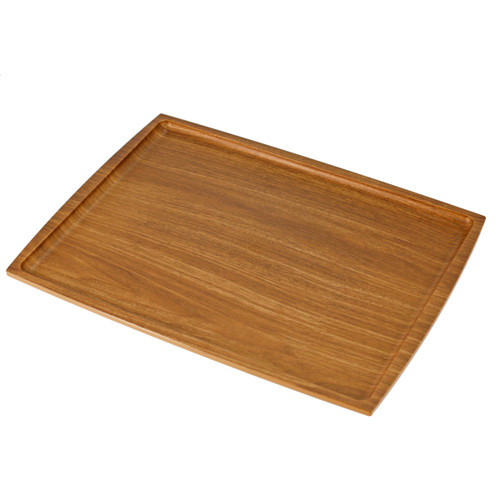 "Non-slip Rectangular Tray with Wooden Pattern 16.54"" x 12.6"""
