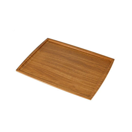 """Non-slip Rectangular Tray with Wooden Pattern 12.99"""" x 9.45"""""""