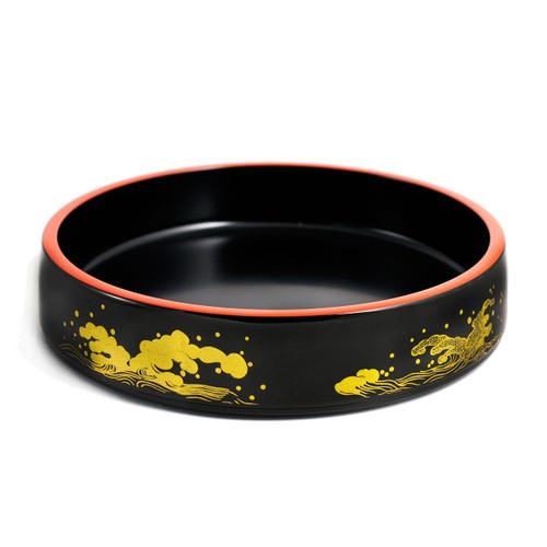 """Wave Motif Sushi Serving Tray (Sushi Oke) 10.79"""" dia"""