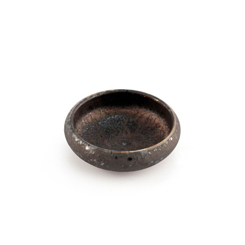 """Charcoal Gray Textured Soy Sauce Dish 2.75"""" dia"""
