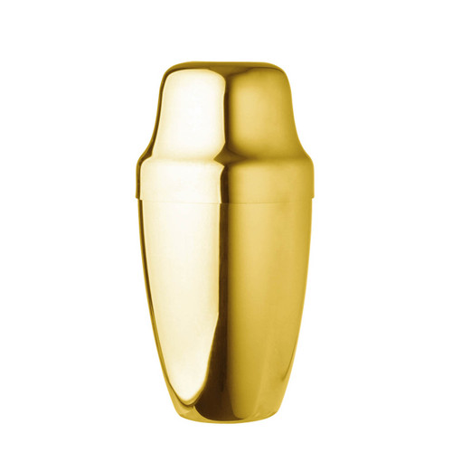 Yukiwa Gold-Plated French Style Cocktail Shaker 500ml (17 oz)