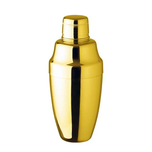 Yukiwa Gold-Plated Cobbler Cocktail Shaker 500ml (17 oz)
