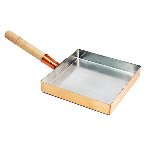 "Copper Tamagoyaki Pan Medium 8.25"" x  8.25"""