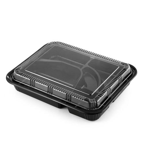 """TZ-306 Black Take Out Bento Box 10.4"""" x 8.1"""" (50/pack)"""