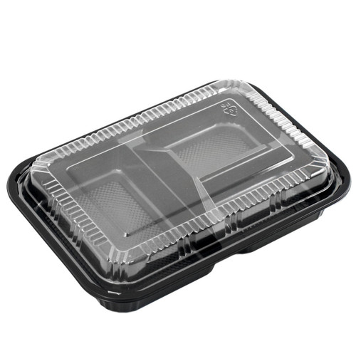 """TZ-303 Black Take Out Bento Box  9"""" x 6.3"""" (45/pack)"""