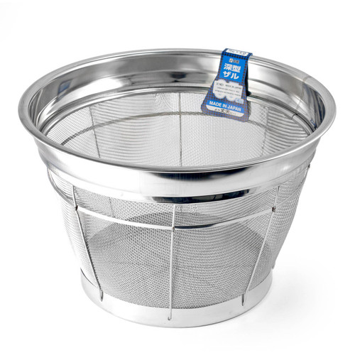 "Stainless Heavy Duty Rice Colander 13.75"" dia"