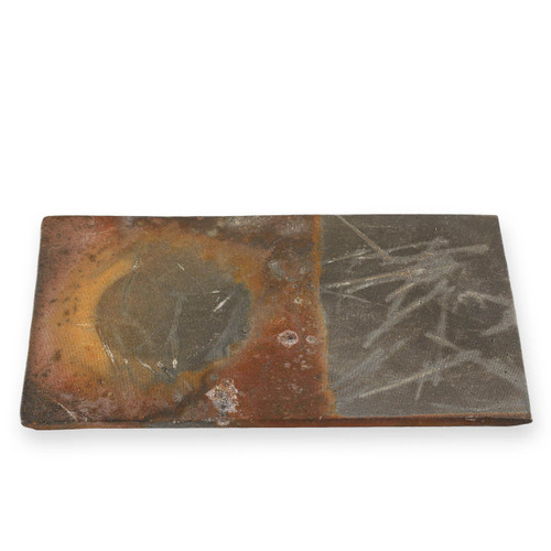 "Kanayama Matte Brown Rectangular Plate 10.16"" x 5.87"""