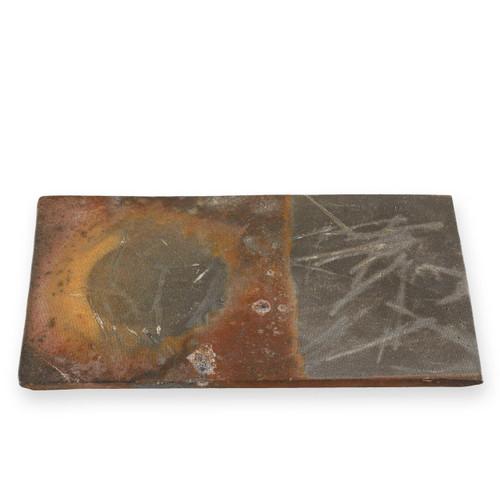"""Kanayama Matte Brown Rectangular Plate 10.16"""" x 5.87"""""""