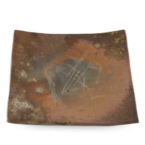 "Kanayama Matte Brown Square Plate 8.11"" x 7.99"""