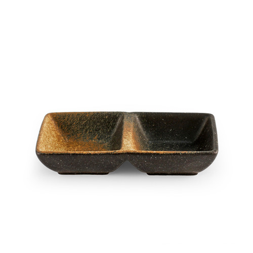 """2 Compartment Brown Sauce Dish 5.71"""" x 2.75"""""""