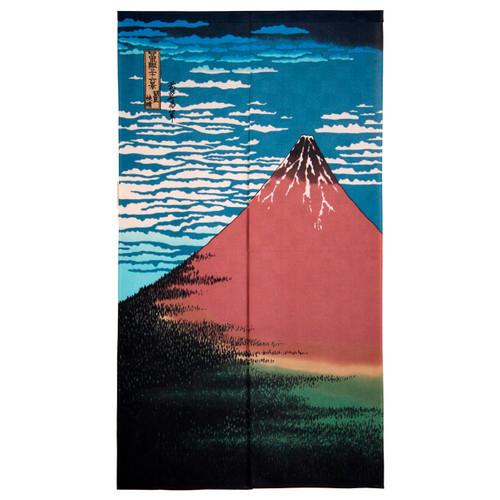 Noren Curtain with Mt. Fuji