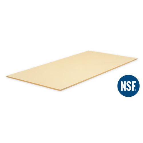 "NSF Soft Rubber Cutting Board 35.5"" x 15.75"" x 0.38"" ht"