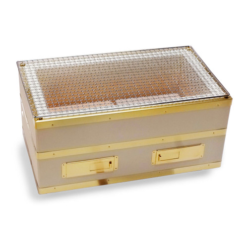"Charcoal Konro Grill with Brass Medium 18"" x 10"""