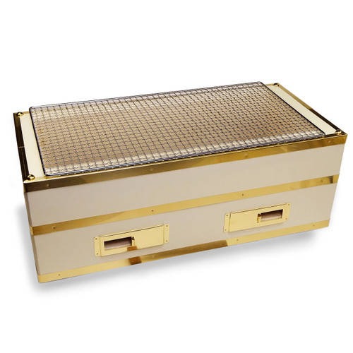 """Charcoal Konro Grill with Brass Large 21.5"""" x 10"""""""