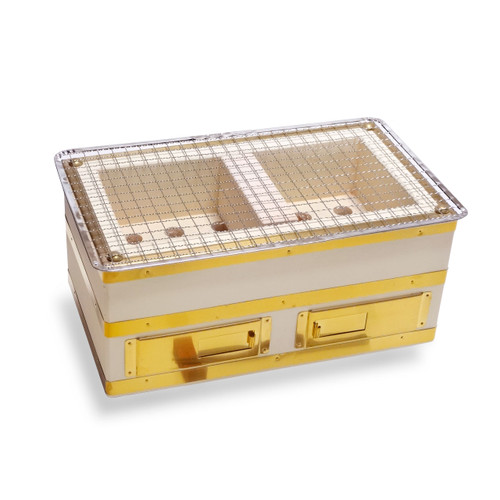 """Charcoal Konro Grill with Brass Small 12"""" x 7"""""""