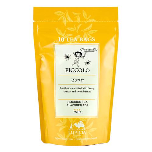 Lupicia Piccolo Rooibos Tea Berries, Apricots, Honey Flavored Non Caffeine 10 Tea Bags