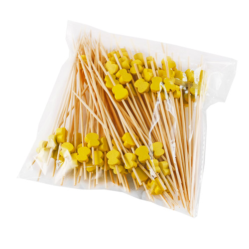 "Decorative Picks for Appetizers and Cocktails Yellow Hyotan 4.72"" (100/pack)"