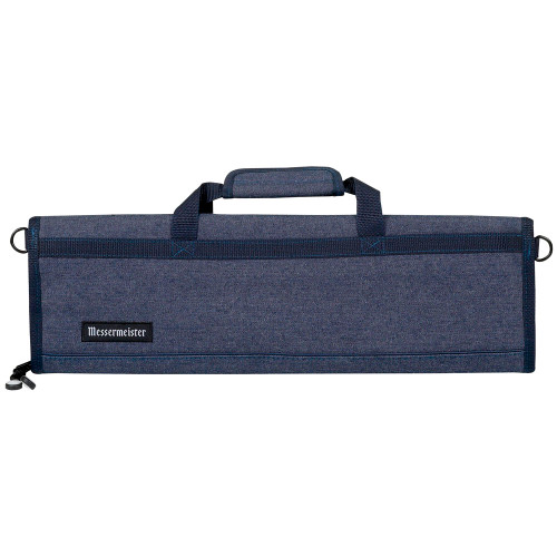 Messermeister Blue Denim 8 Pocket Padded Knife Roll Bag