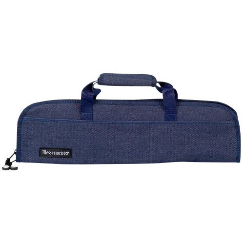 Messermeister Blue Denim 5 Pocket Padded Knife Roll Bag