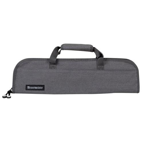 Messermeister Gray Denim 5 Pocket Padded Knife Roll Bag