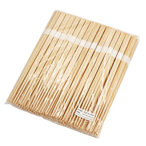 "9.5"" Disposable Square Tip Japanese Cypress Chopsticks Bundled (100 pairs/pack)"