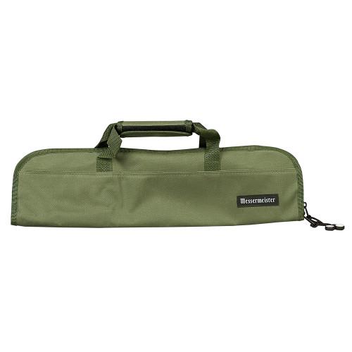 Messermeister Khaki 5 Pocket Padded Knife Roll Bag