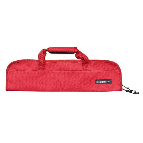 Messermeister Red 5 Pocket Padded Knife Roll Bag
