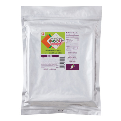 Gluten-Free Mamenorisan Soybean Paper Shiso Purple Perilla Leaves 20 Sheets